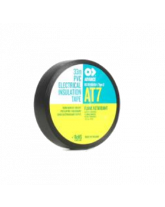 Tape Masking Black Waterproof AT7 19mm (3/4 inch) width x 33m roll (OMAT 2/94/19MM)