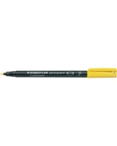 Marker Temp Felt/Fibre Tip Staedler Lumocolor 318-1 Yellow